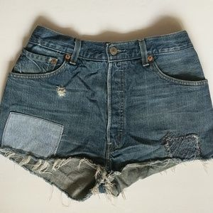 RE/DONE The Short High Rise Cutoff Patch Levi's